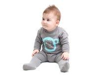 Pequeña sentada del bebé Fotos de archivo libres de regalías