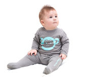 Pequeña sentada del bebé Foto de archivo libre de regalías