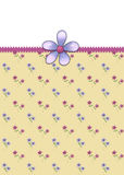 Pequeña tarjeta de felicitación de las flores Fotografía de archivo libre de regalías