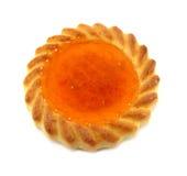 Pequeña tarta del albaricoque Imagen de archivo libre de regalías