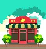 Pequeña tienda local ilustración del vector