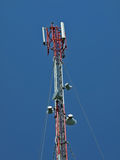 Pequeña torre de la telecomunicación Imágenes de archivo libres de regalías