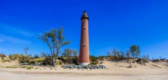 Pequeña torre del faro del punto del Sable Imagen de archivo