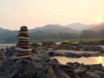 Pequeña torre del ZEN Stone Foto de archivo libre de regalías