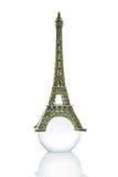 Pequeña torre Eiffel aislada Imágenes de archivo libres de regalías