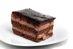 Pequeña torta de chocolate Imagen de archivo