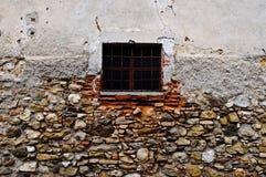 Pequeña ventana barrada Fotos de archivo libres de regalías
