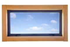 Pequeña ventana esmaltada doble de aluminio imagen de archivo libre de regalías