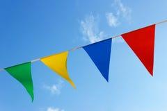 Pequeñas banderas coloreadas Imágenes de archivo libres de regalías
