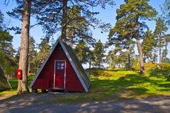 Pequeñas cabinas minúsculas para el alquiler Foto de archivo libre de regalías