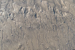 Pequeñas calas de marea con el drenaje de calas del agua Fotografía de archivo libre de regalías