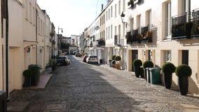 Pequeñas calles viejas de Londres almacen de video