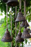 Pequeñas campanas en una glorieta Fotografía de archivo