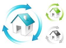 Pequeñas casas Ilustración del Vector