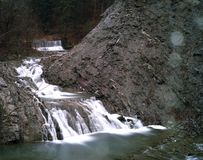 Pequeñas cascadas Fotografía de archivo