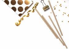 Pequeñas cosas lindas del color de oro Imágenes de archivo libres de regalías
