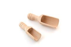 Pequeñas cucharadas de madera Fotografía de archivo libre de regalías