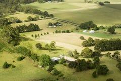 Pequeñas granjas rurales Imágenes de archivo libres de regalías
