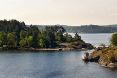 Pequeñas islas cerca de Estocolmo Imagen de archivo libre de regalías