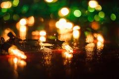 Pequeñas luces decorativas Fotos de archivo libres de regalías