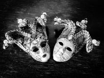 Pequeñas máscaras italianas de la bola de Venecia Fotos de archivo libres de regalías