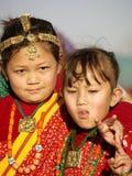 Pequeñas muchachas de Gurung Imagenes de archivo