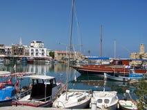 pequeñas naves en Kyrenia fotografía de archivo libre de regalías