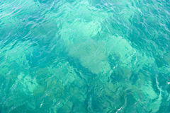 Agua azul clara fotografía de archivo