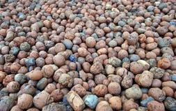 Pequeñas piedras redondas Foto de archivo libre de regalías