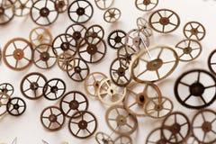 Pequeñas piezas del reloj Fotografía de archivo