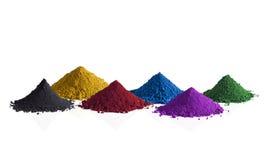Pigmentos coloridos Imágenes de archivo libres de regalías