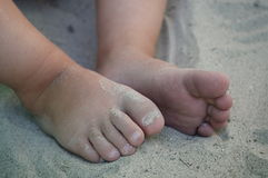 Pequeñas puntas en la arena Fotos de archivo libres de regalías