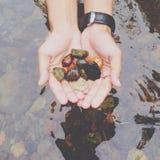 Pequeñas rocas Imágenes de archivo libres de regalías