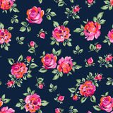 Pequeñas rosas pintadas stock de ilustración
