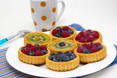 Pequeñas tartas deliciosas de la fruta imagen de archivo