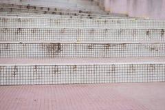 Pequeñas texturas de la escalera del mosaico Foto de archivo libre de regalías