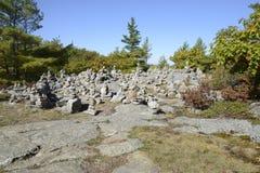 Pequeñas torres de piedras Imagen de archivo