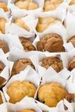 pequeñas tortas de los molletes Imágenes de archivo libres de regalías