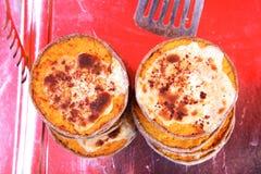 Pequeñas tortas del queso Fotografía de archivo libre de regalías