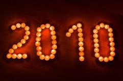 Pequeñas velas, número de año imágenes de archivo libres de regalías