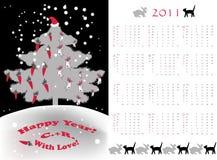 Pequeño árbol del calendario Imagen de archivo libre de regalías