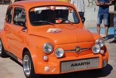 Pequeño abarth del coche Imagen de archivo libre de regalías