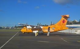 Pequeño aeroplano del aire Caledonie en Nueva Caledonia Foto de archivo libre de regalías