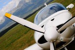 Pequeño aeroplano - propulsor Imagen de archivo