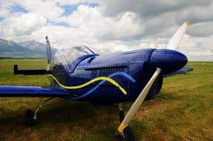 Pequeño aeroplano - propulsor Foto de archivo