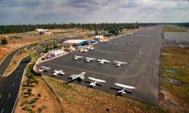 Pequeño aeropuerto Foto de archivo libre de regalías