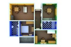 Pequeño apartamento stock de ilustración