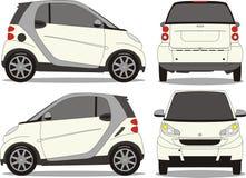 Pequeño arte del vector del coche Foto de archivo libre de regalías