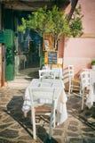 Pequeño asiento romántico en italiano Venecia fotos de archivo
