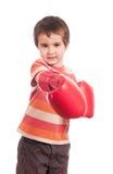 Pequeño ataque del boxeador imagen de archivo